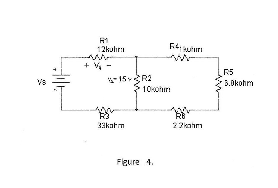 22. In figure 4, find the voltage across R1. Vs va