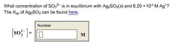 What concentration of SO32- is in equilibrium with
