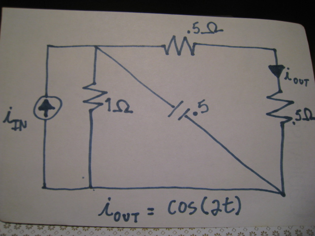 In the following circuit, the output current is co