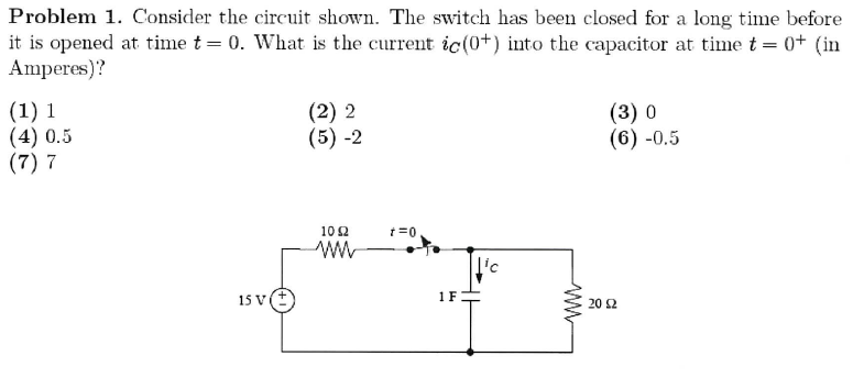 Consider the circuit shown. The switch has been cl