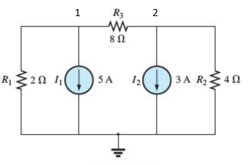 Using nodal analysis, find: (a) the voltage V12; (