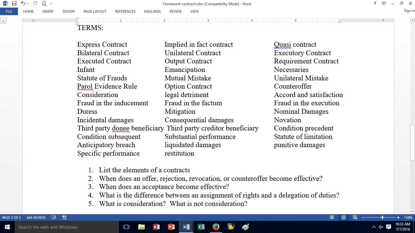 Bilateral Versus Unilateral Contracts
