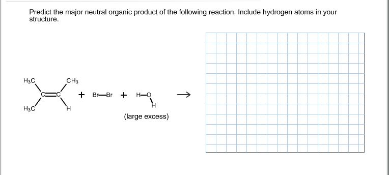 Predict the major neutral organic product of the f