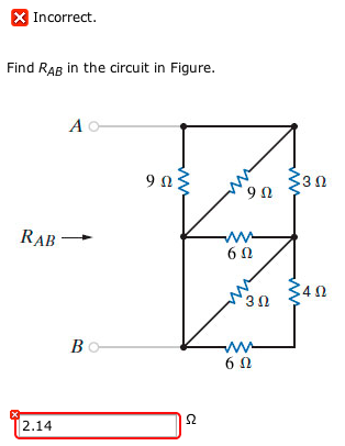 Find RAB in the circuit in Figure.