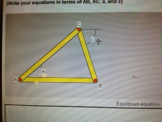For the triangle shown, the lengths of sides AB an