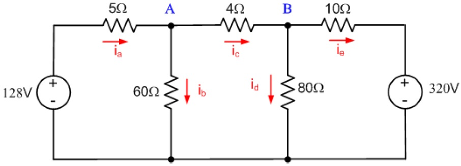solved   a  for the circuit shown  use a series of source
