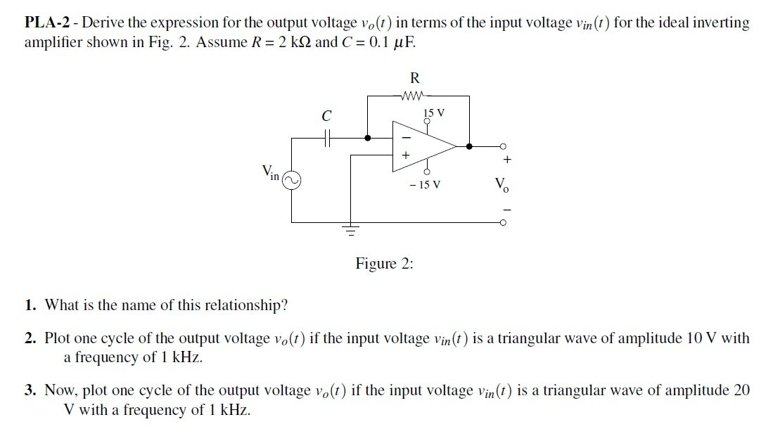 Derive the expression for the output voltage v0(t)