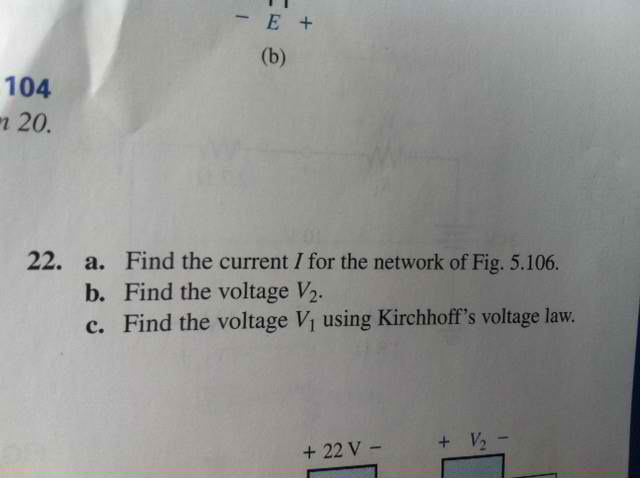 Find the current I for the network of Fig. 5.106.