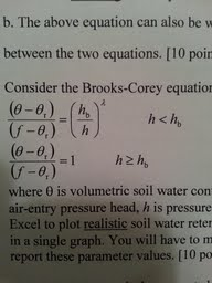 Consider the Brooks-Corey equation for soil water