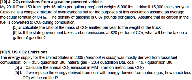 10  4  co2 emissions from a gasoline powered vehi