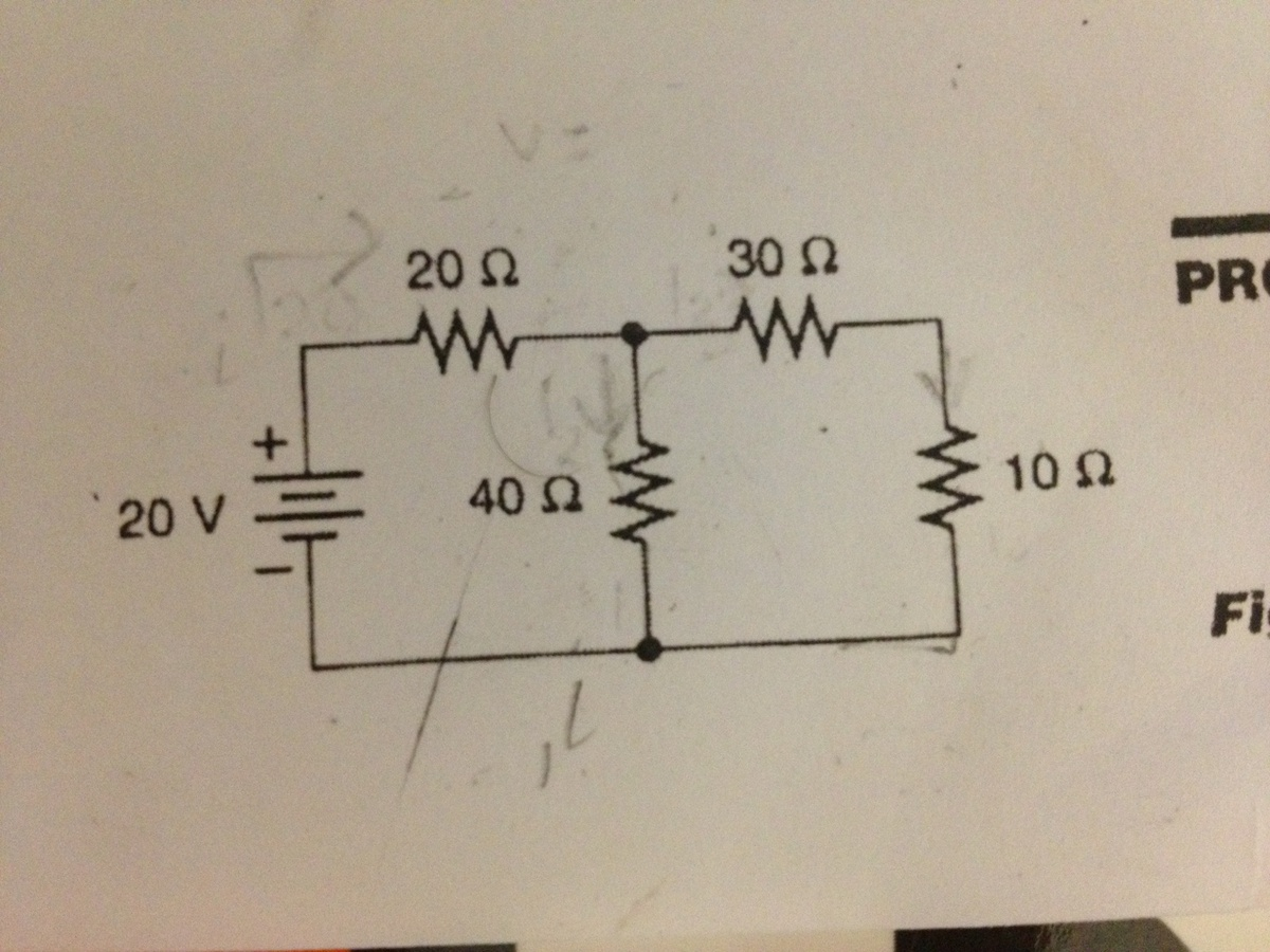 Find the power absorbed in a 10 ohm resistor. If y