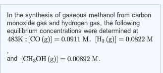 In the synthesis of gaseous methanol from carbon m