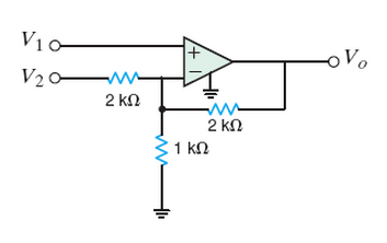 For the circuit in the figure below, find Vo, if V