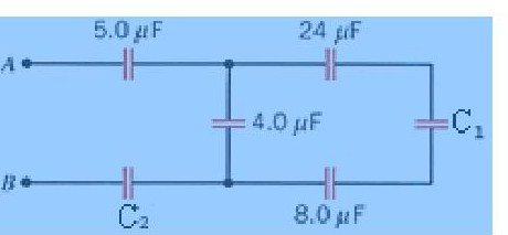 Determine the equivalent capacitance between A and
