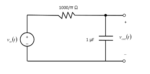 Find an express for the output signal given the fo