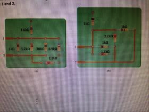 For each circuit board in fig., find the total res