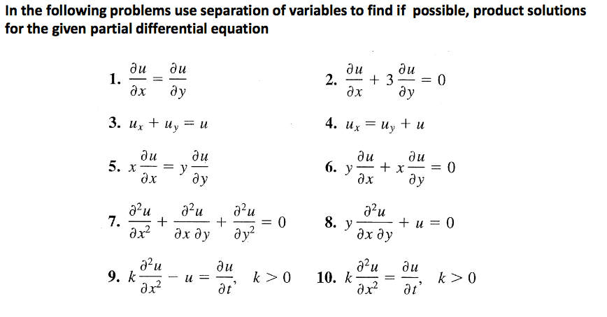 Differential equation homework help