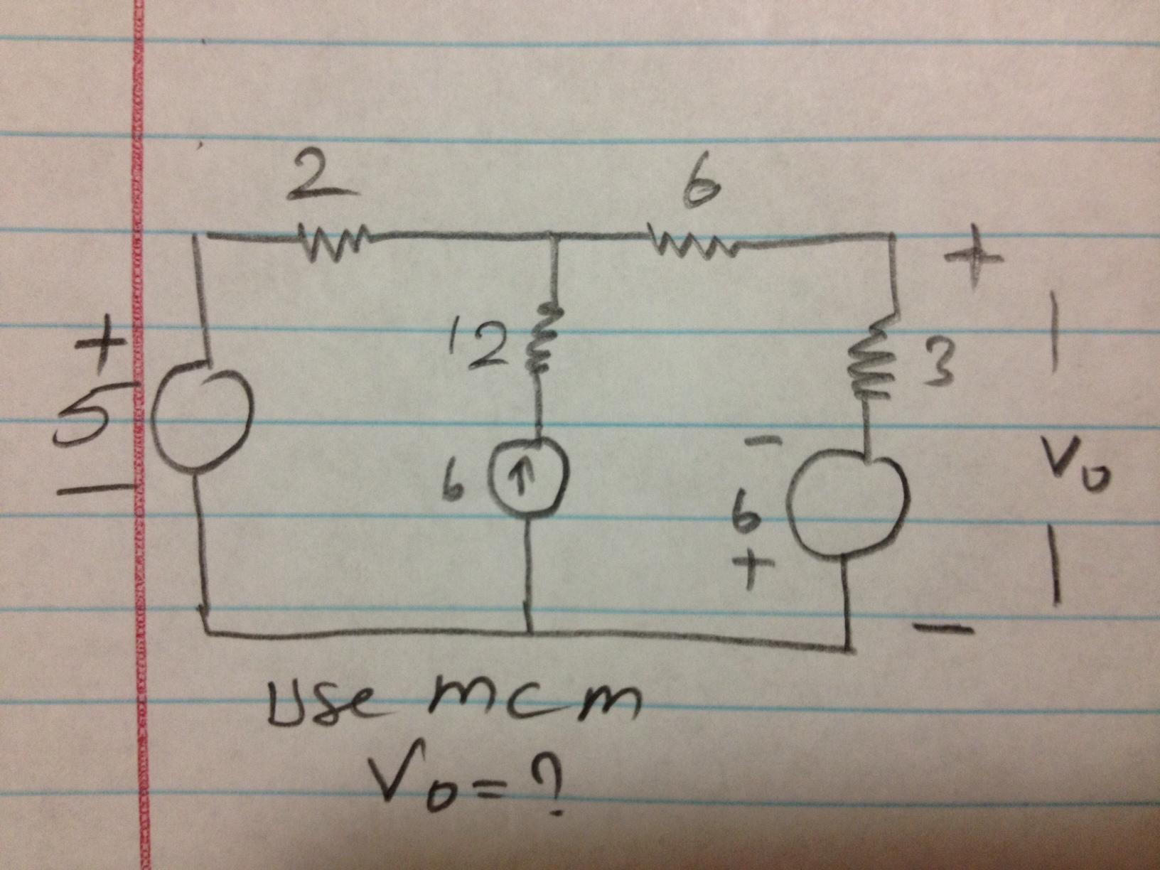 please use NVM (mesh current method) to solve it!