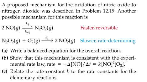 A proposed mechanism for the oxidation of nitric o