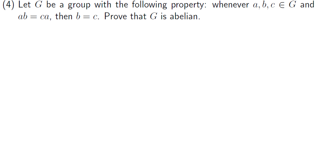 Let G be a group with the following property: when