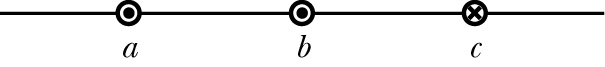 The figure here shows three long, straight, parall