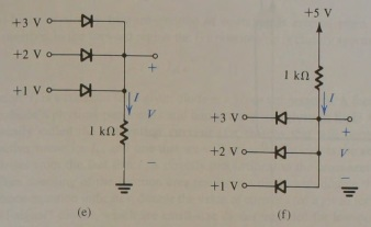 Find the values if I and V in the circuits showns