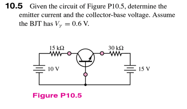 Given the circuit of Figure P 10.5, determine the