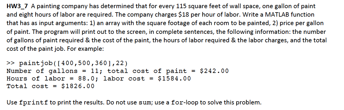 A painting company has determined that for every 1