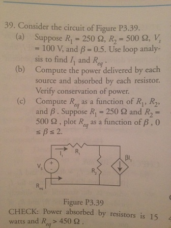 Consider the circuit of Figure P3.39. Suppose R1