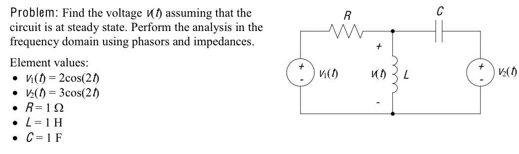Find the voltage V(t) assuming that the circuit is