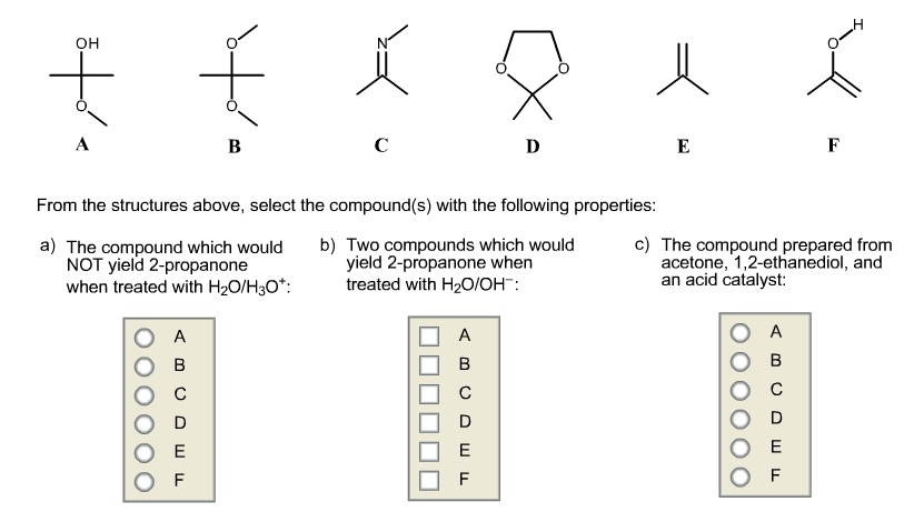From the structures above, select the compound(s
