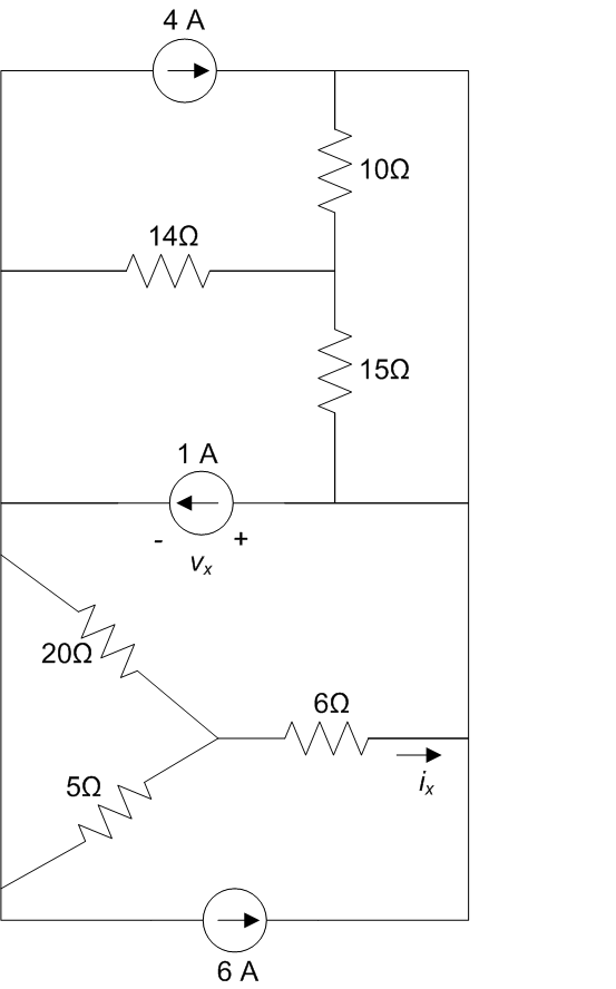 Image for Use source and resistor combination techniques to help find Vx and Ix in the circuit below I am having trouble