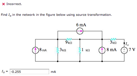 Find I0 in the network in the figure below using s