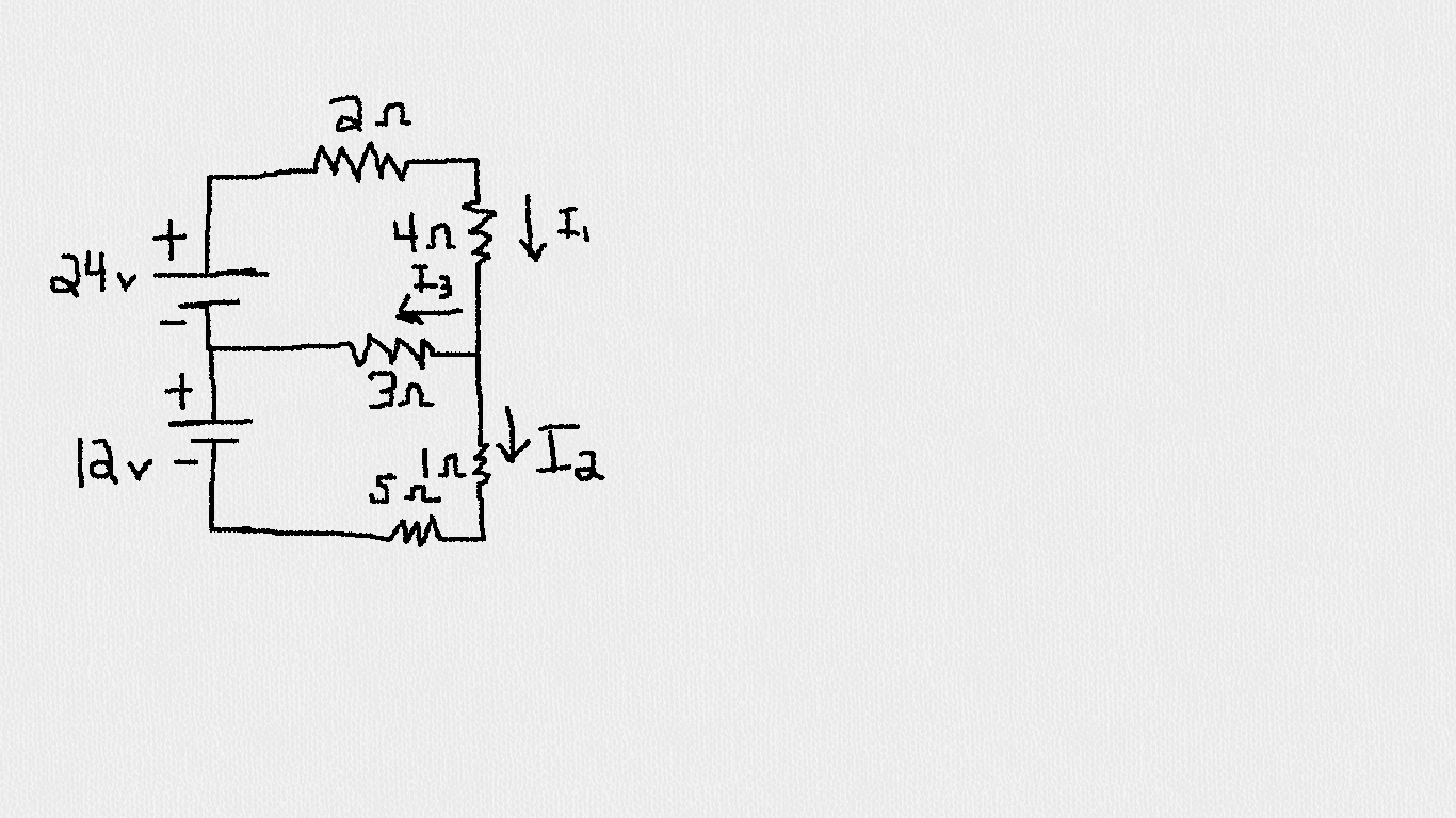 Consider the following circuit. Find ALL the curre