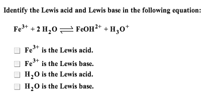 Which are of the following are Lewis acids? (Cheek