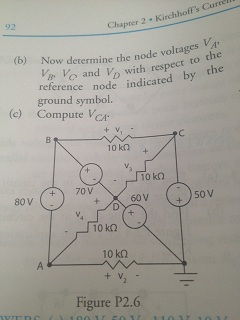 (A) For the circuit of figure P2.6 determine the v