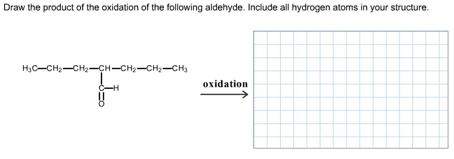 Draw the product of the oxidation of the following