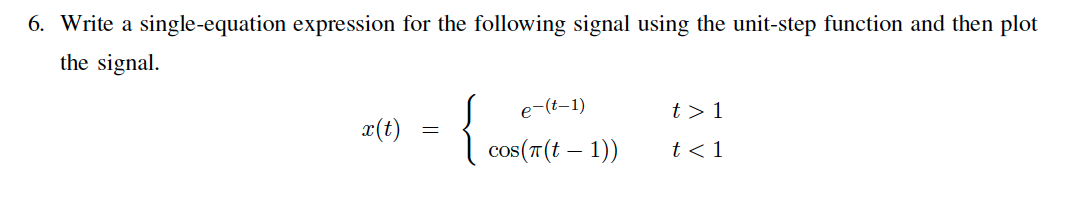 Write a single-equation expression for the followi