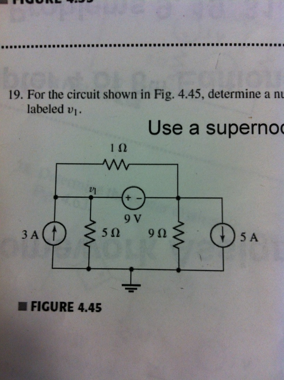 For the circuit shown in Fig 4. 45 determine