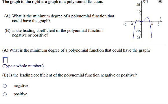 how to find degree of polynomial graph