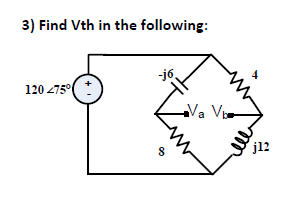 Find Vth in the following: