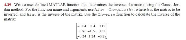 Write a user-defined MATLAB function that determin
