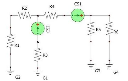 Given the circuit in Figure 2: a) How many nodes