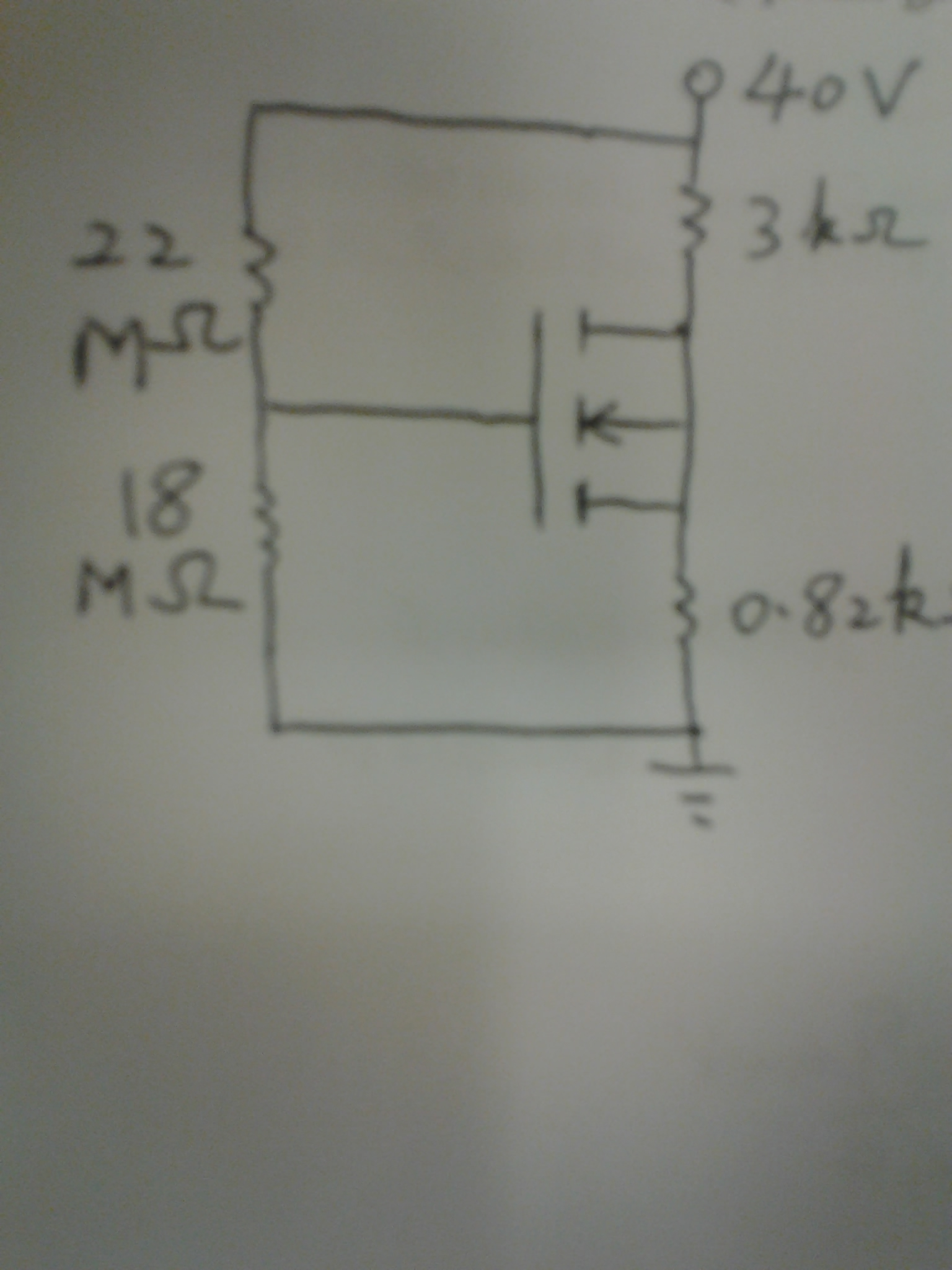 For the circuit the NMOSFET has the Vt =5v and Bet