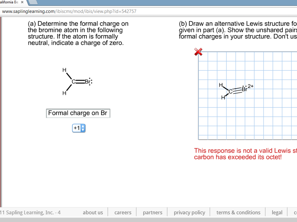 Draw an alternative Lewis structure for the compou