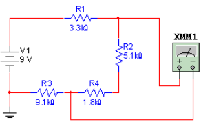 What voltage will be measured in the diagram shown