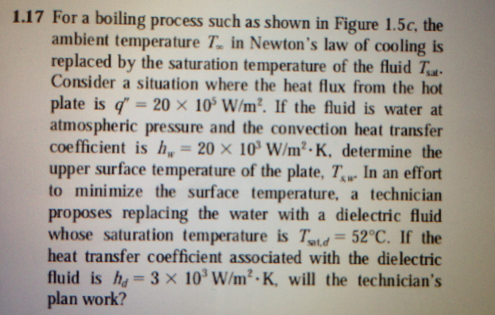 For a boiling process such as shown in Figure 1.5c