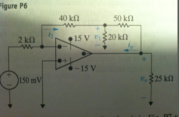 The op amp in the crcuit shown is ideal. Calculate