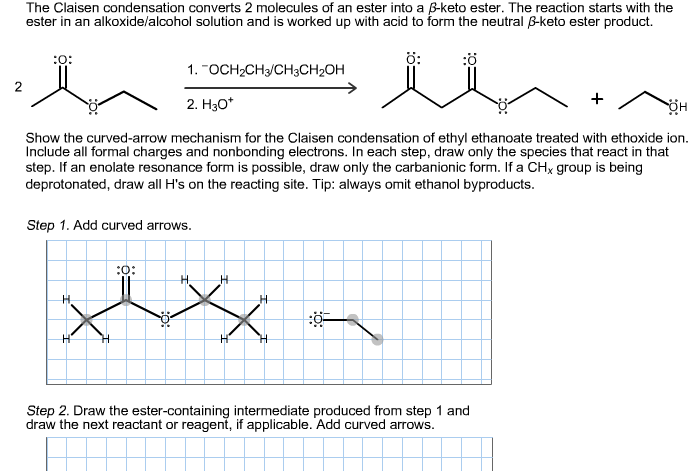 The Claisen condensation converts 2 molecules of a