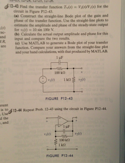 how to find transfer function of difficult circuits